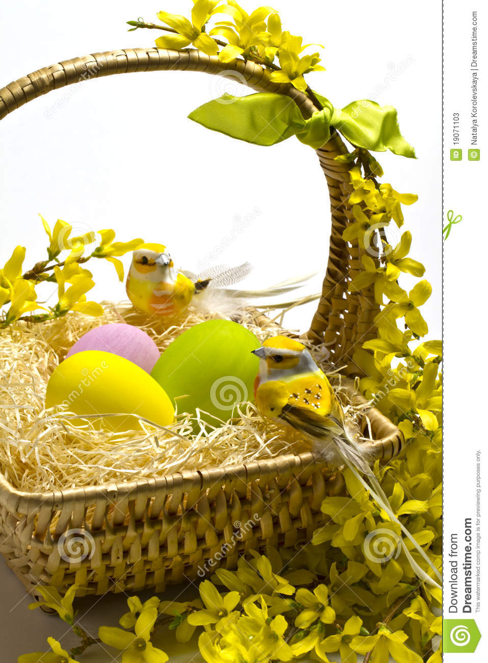 Easter Basket Decoration Stock Photos Image 19071103