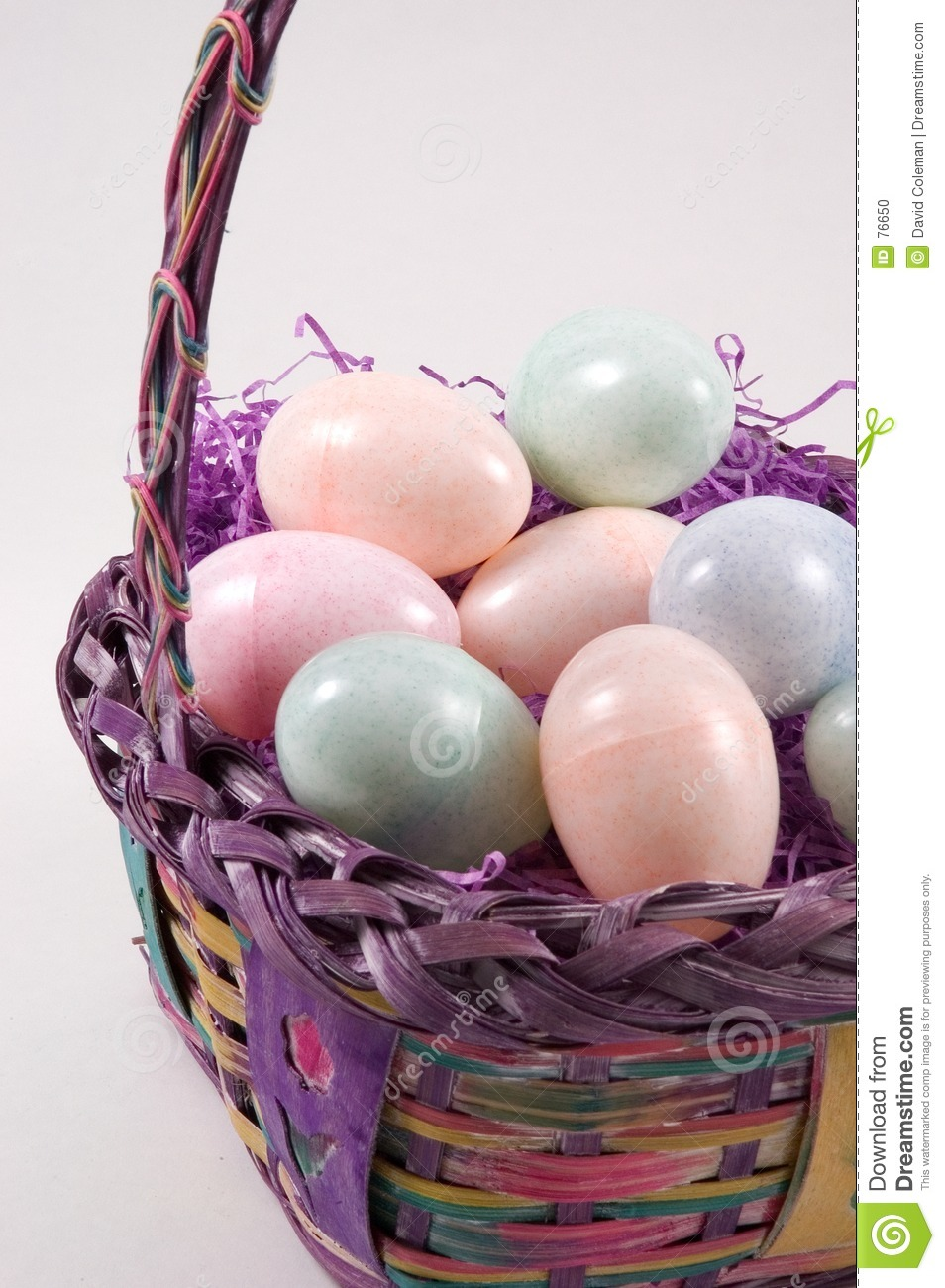 Easter Basket with Easter Eggs - Verticle View