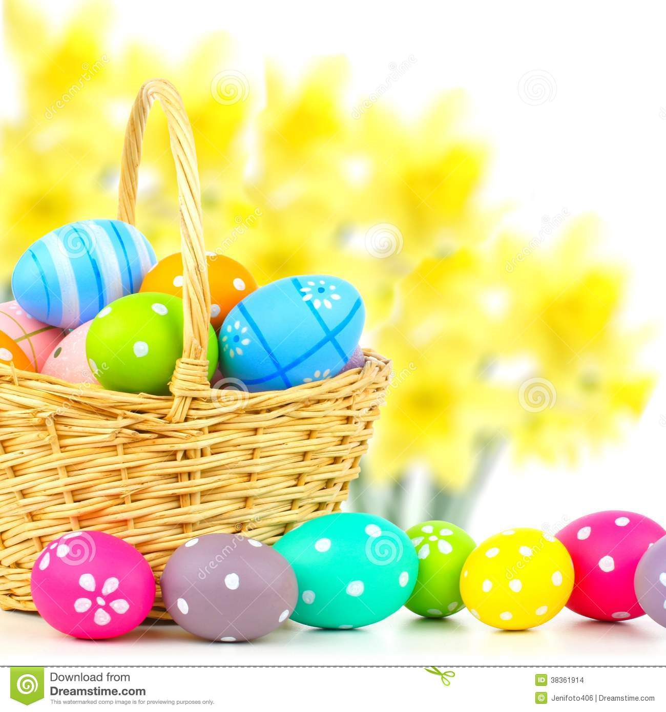 Background With Easter Egg Basket  GraphicStock