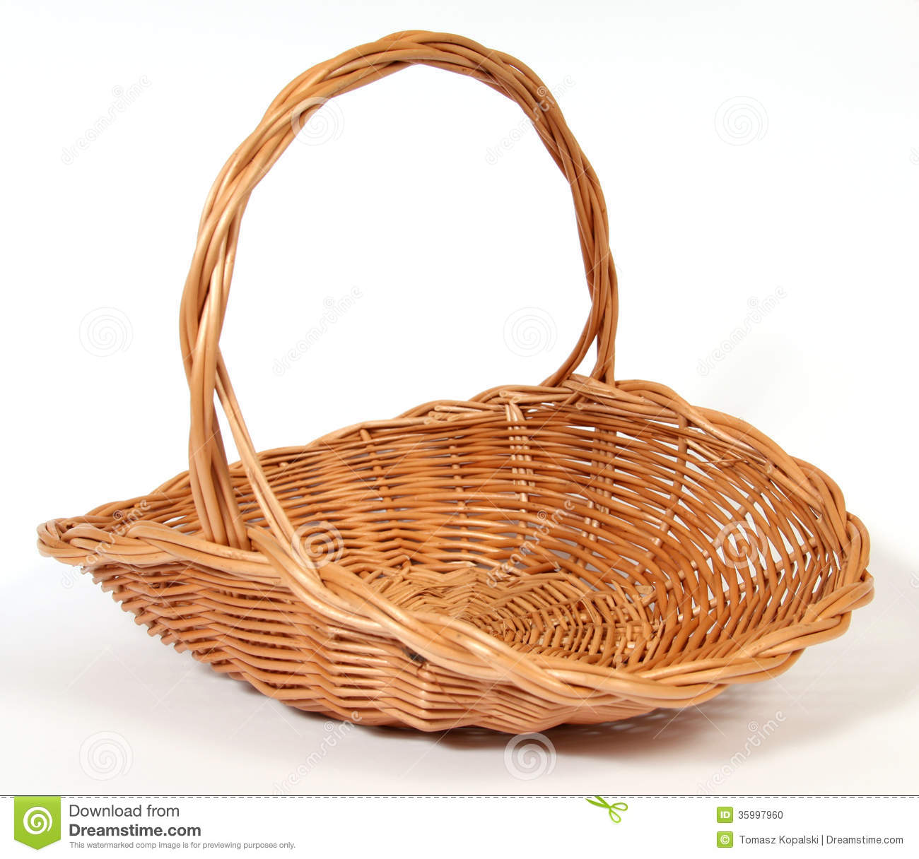 The empty Easter basket from wicker Empty Easter Basket Clipart