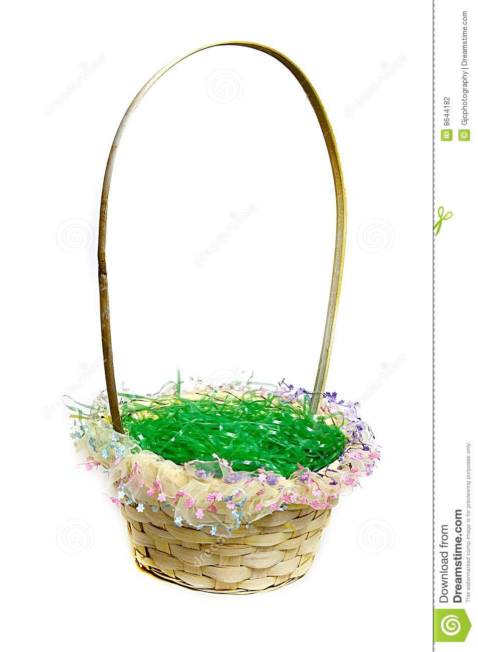 Easter Basket With Green Grass