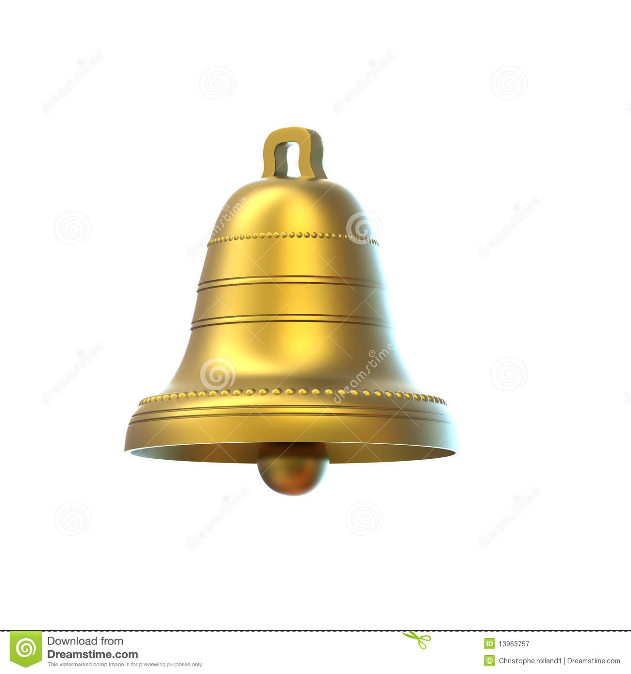 Easter bell isolated on white background stock illustration image 13963757 - Cloches de paques ...