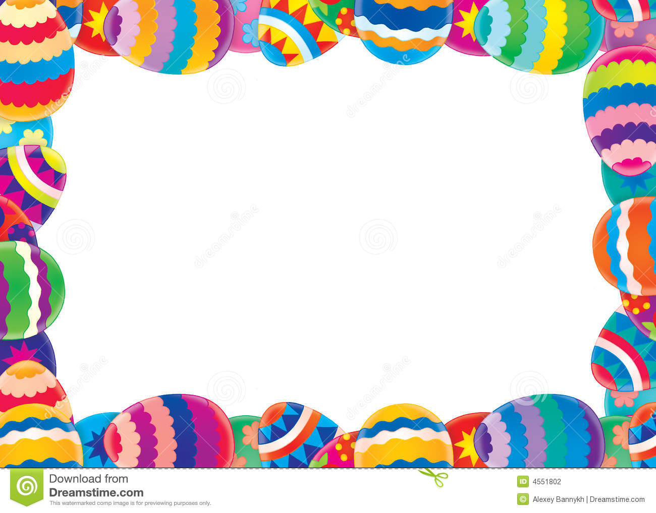 Easter border / background stock illustration ...