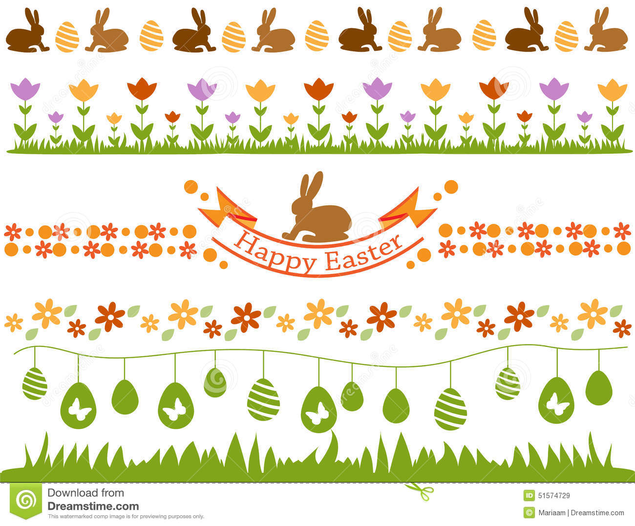 Easter border set