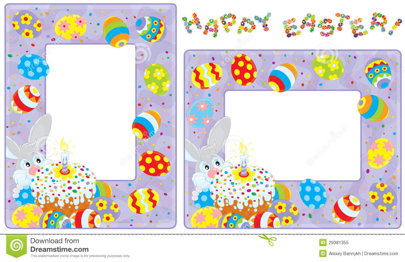 Easter borders stock vector. Illustration of clip, cheesecake - 29381355