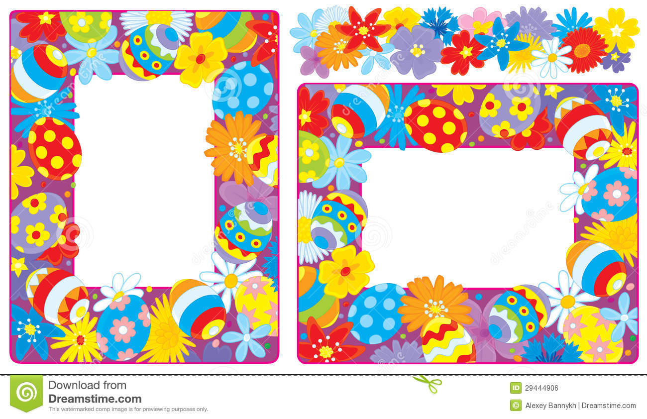 Easter Borders Royalty Free Stock Image - Image: 29444906