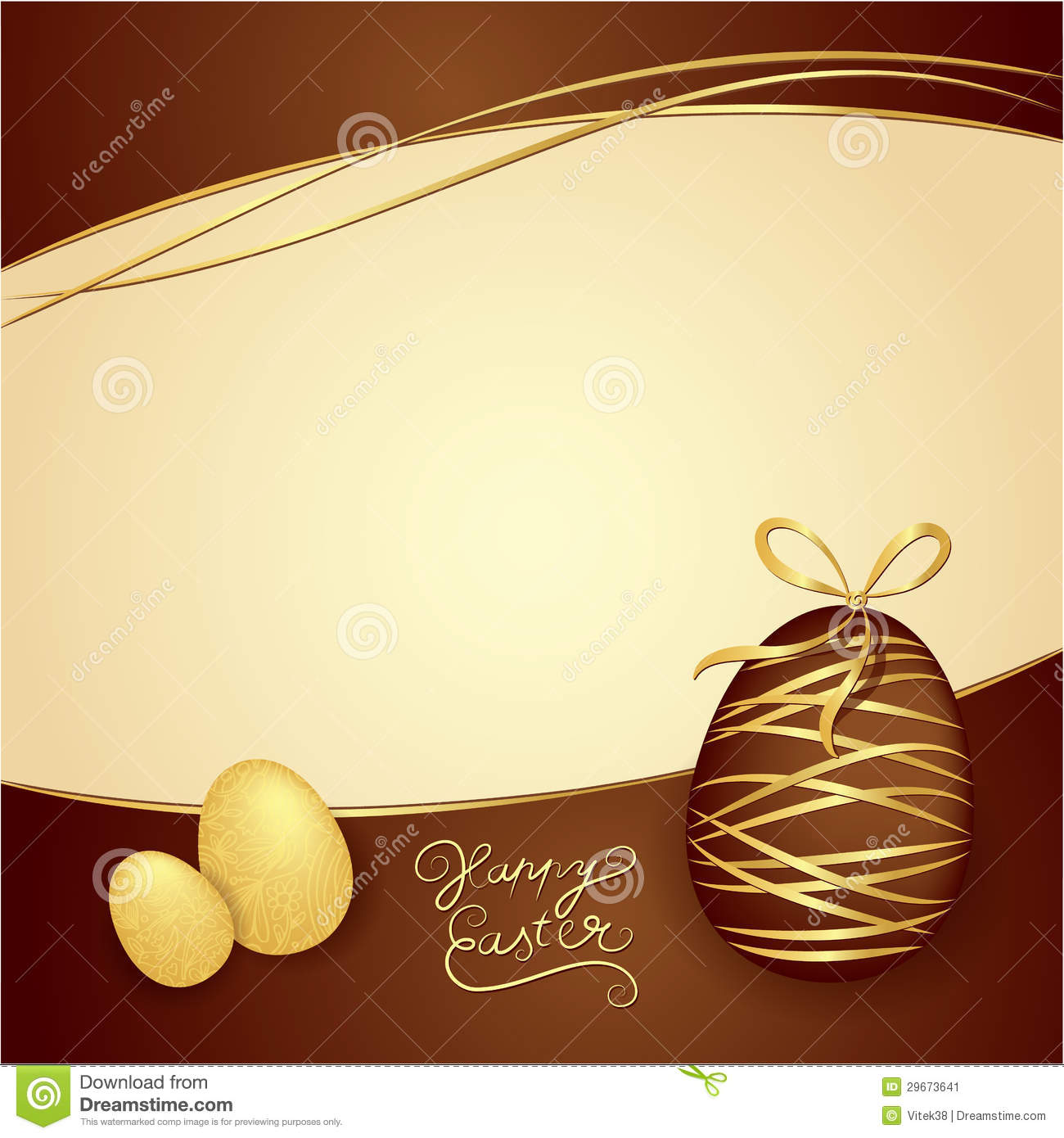 Easter Box Of Chocolates. Vector Thematic Background ...