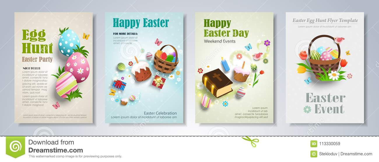 Easter Brochure Template Stock Vector Illustration Of Grass