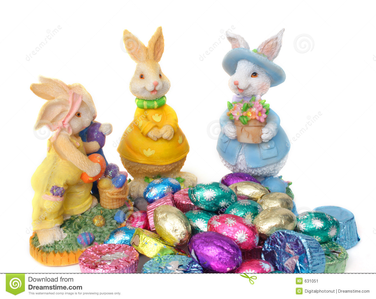 Easter Bunnies and Chocolates