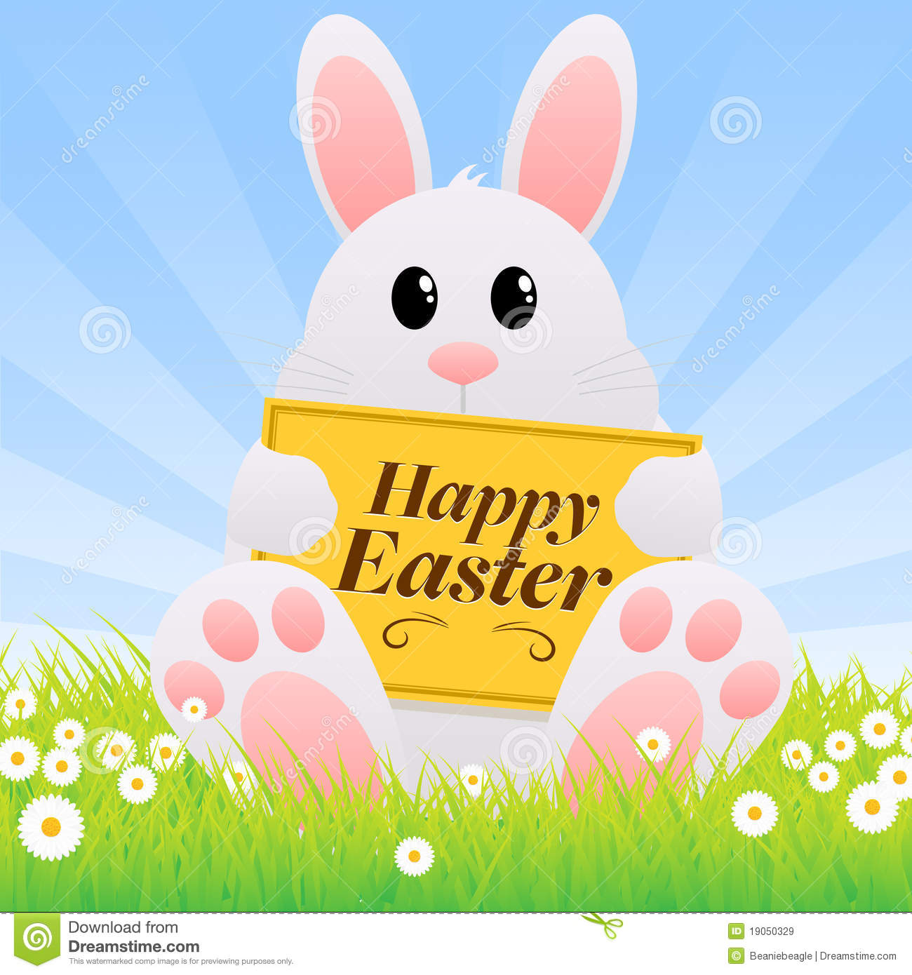 Easter bunny royalty free stock images image 19050329 for Free clipart no copyright