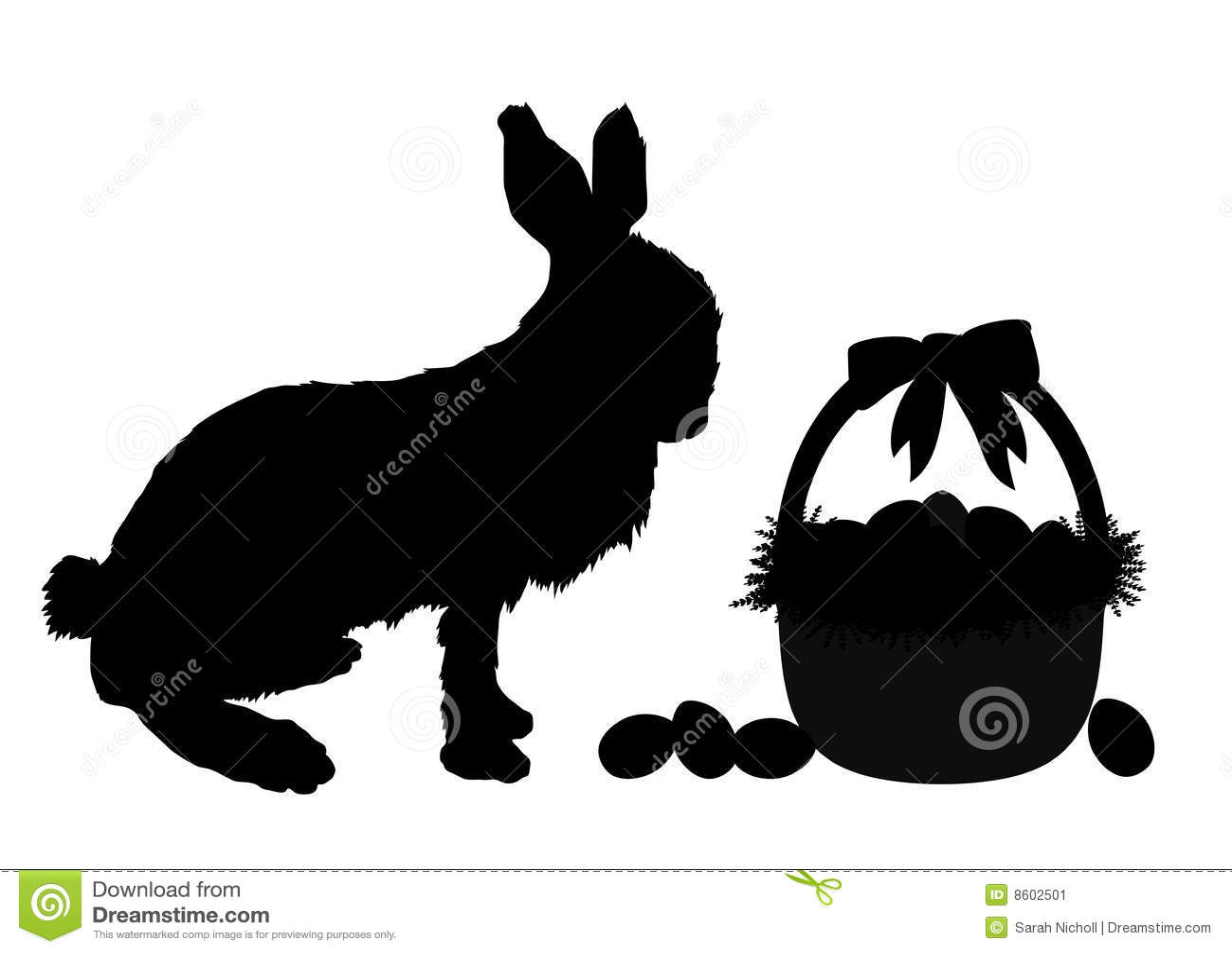 Rabbit Ears Silhouette Easter Bunny Stock Image