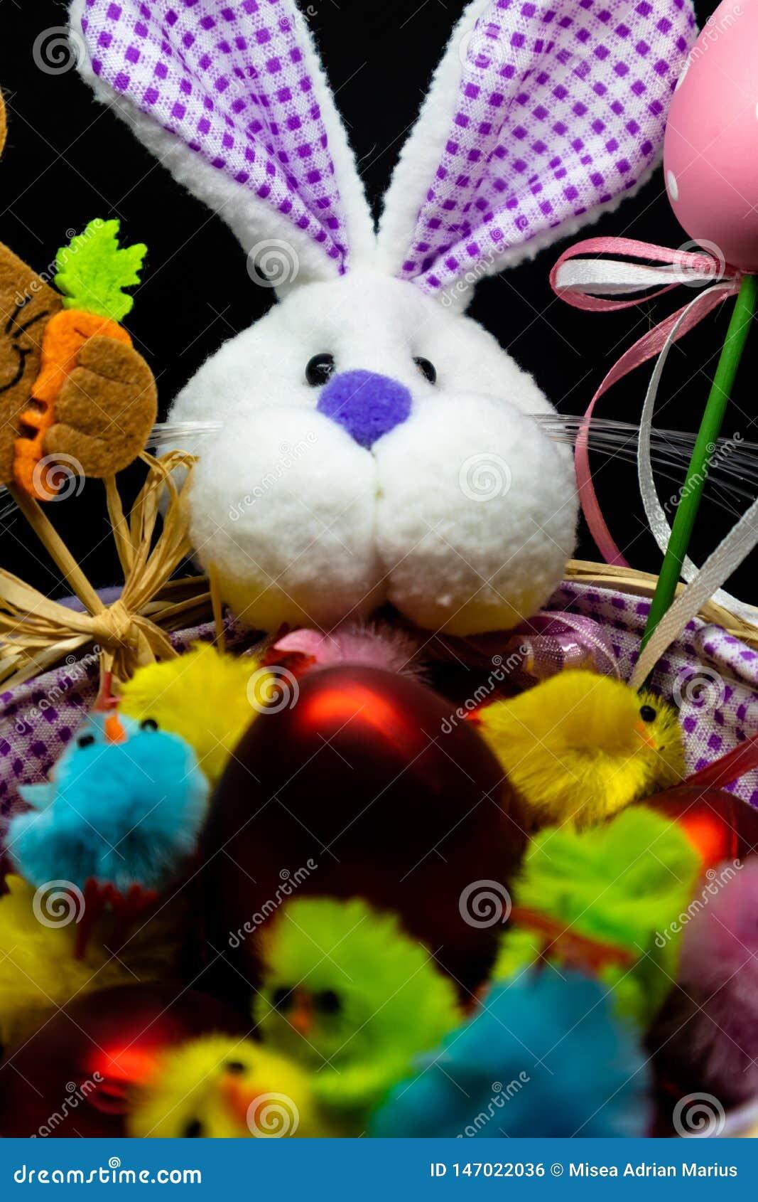 Easter Bunny in a basket , hollyday arrangements