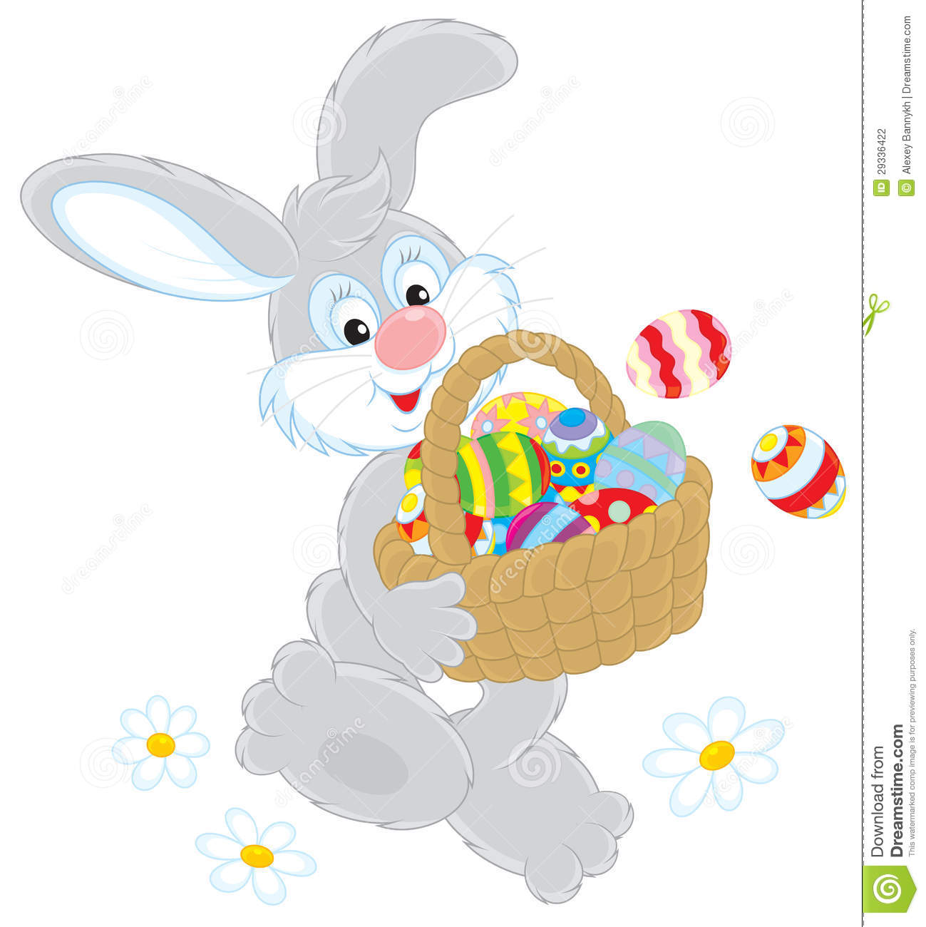 Easter Bunny With Basket Of 28 Images Easter Bunny