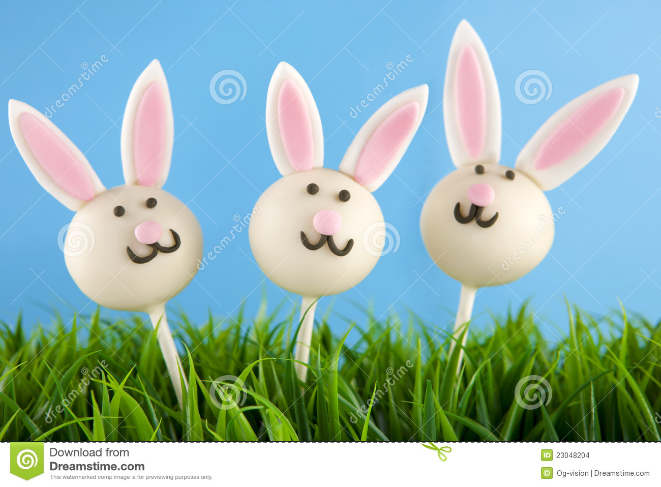 Easter Bunny Cake Pops Stock Images - Image: 23048204