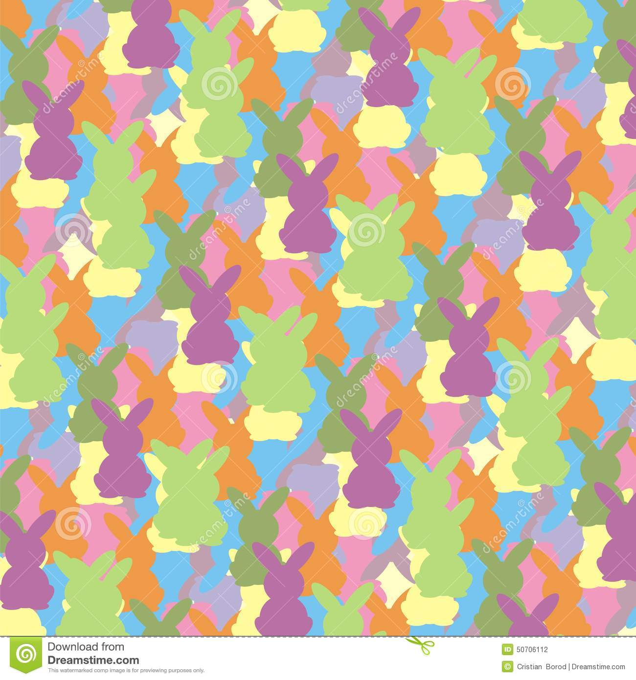 Easter bunny colorful pattern stock vector illustration of easter bunny colorful pattern negle Gallery