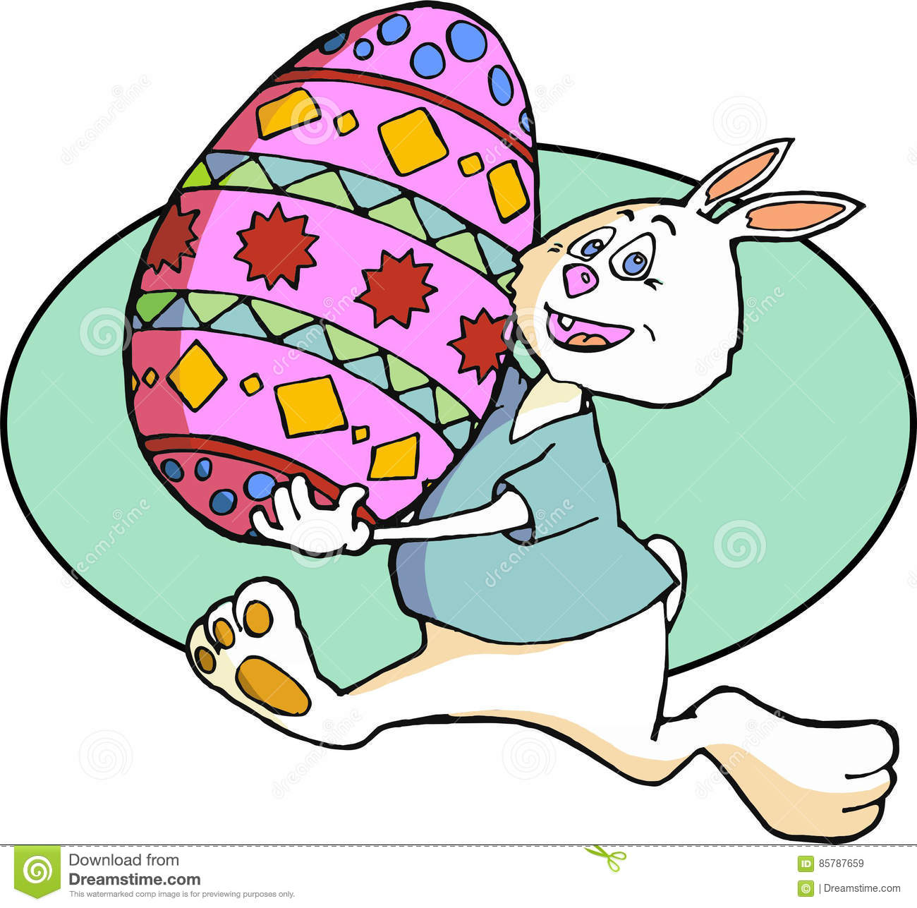 Easter Bunny with Decorated Egg