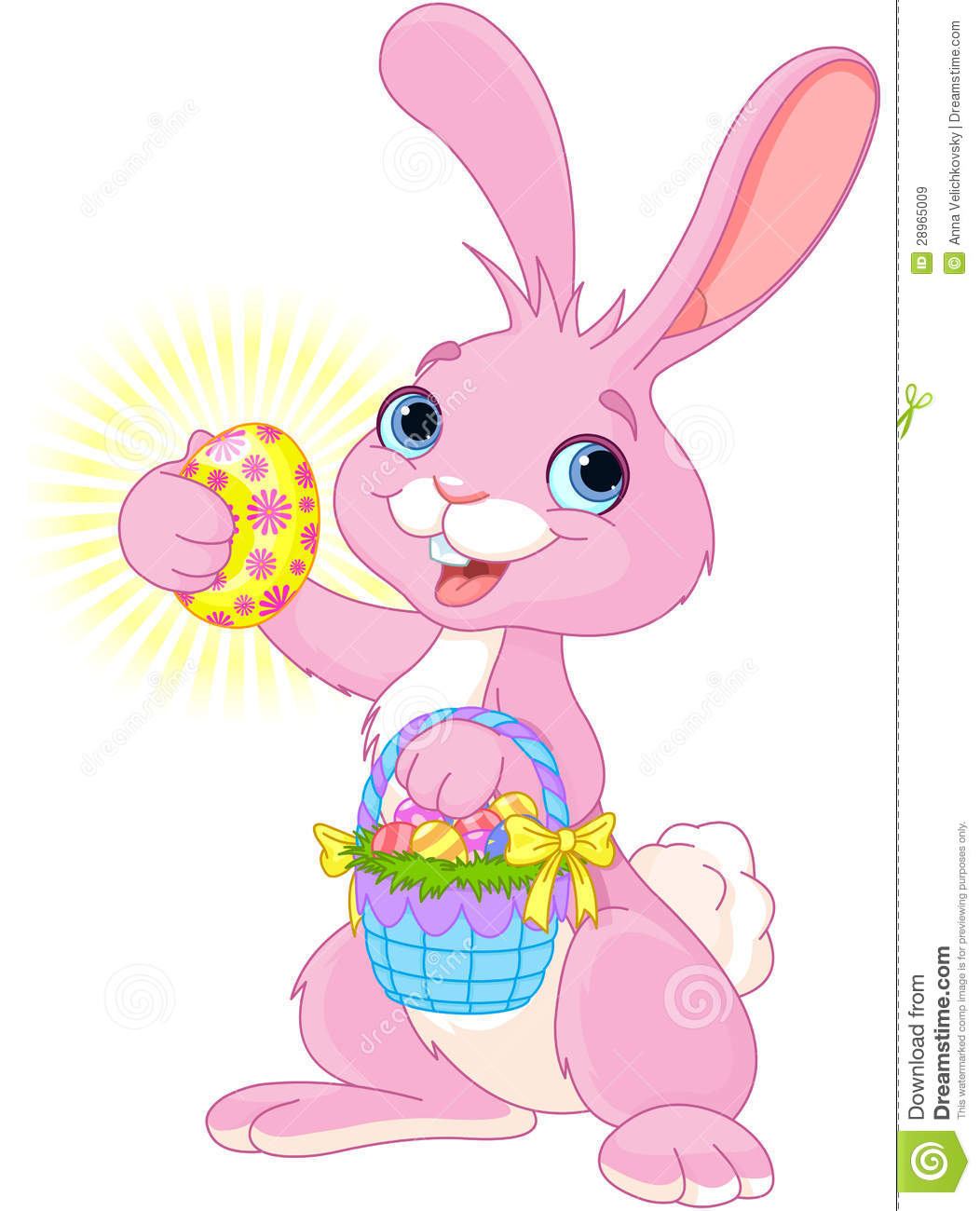 easter bunny with easter egg royalty free stock images image