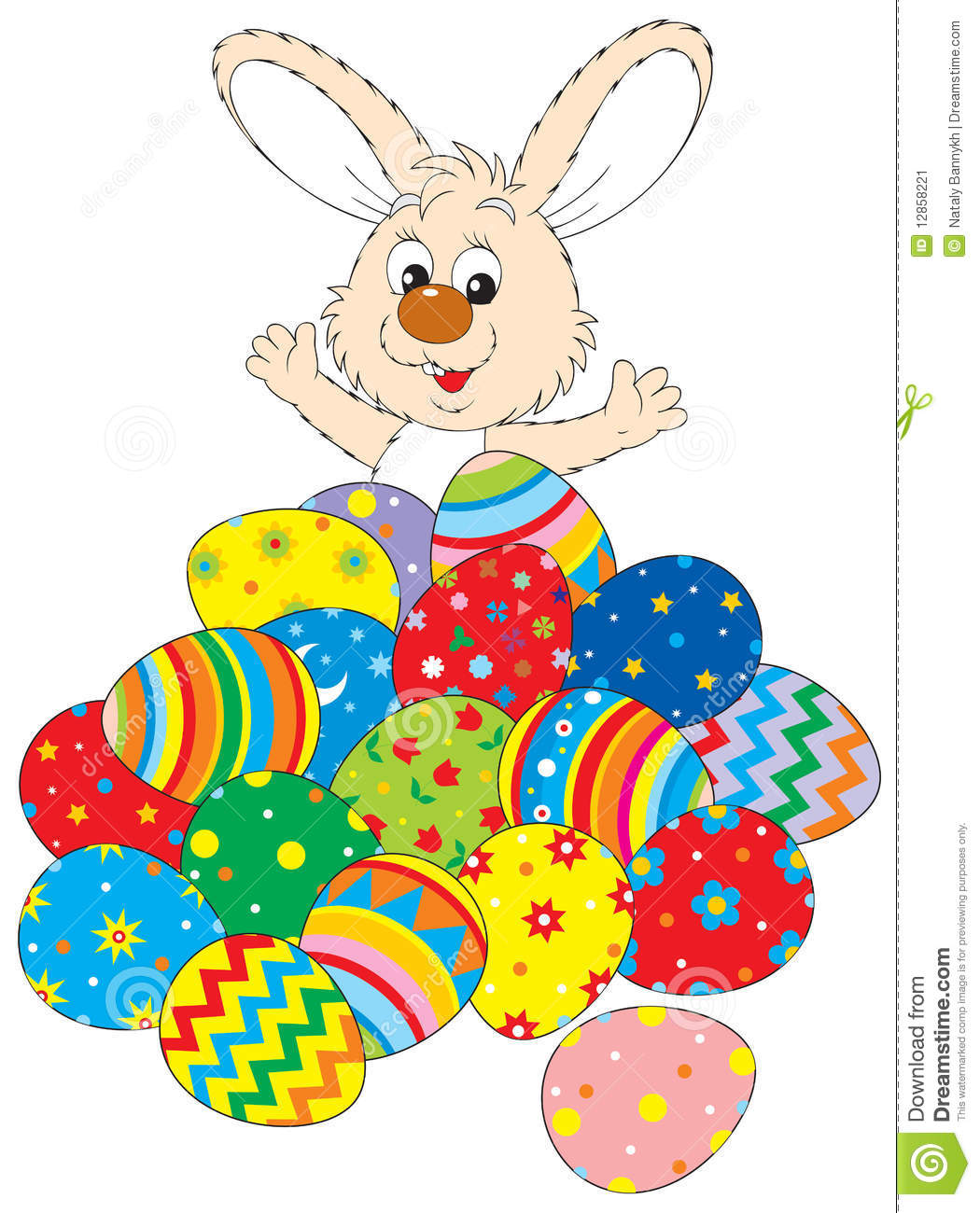 easter bunny and easter eggs stock image image 12858221