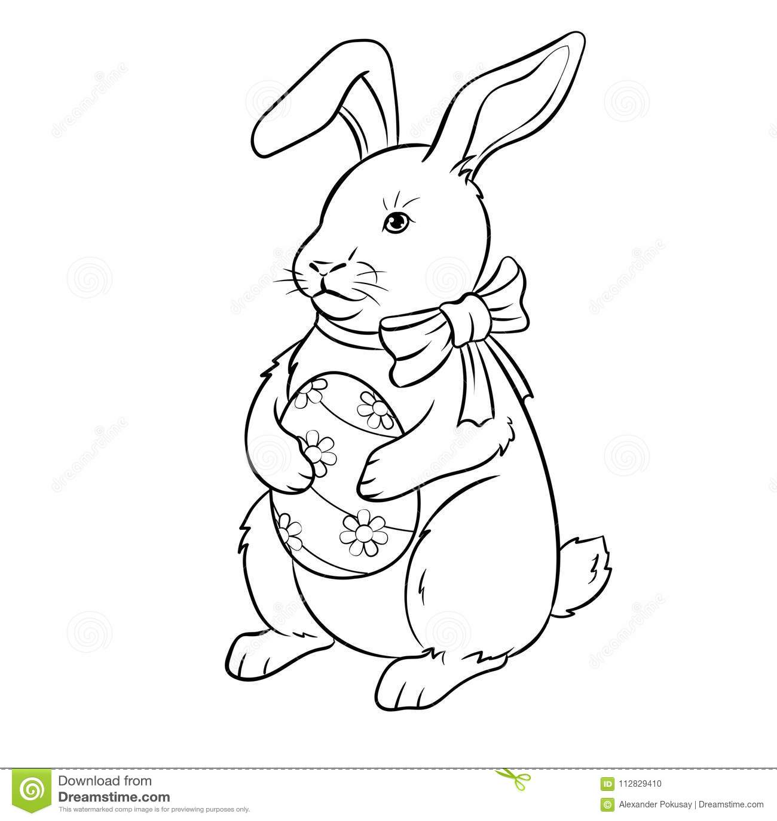 rabbit illustrations vintage coloring book