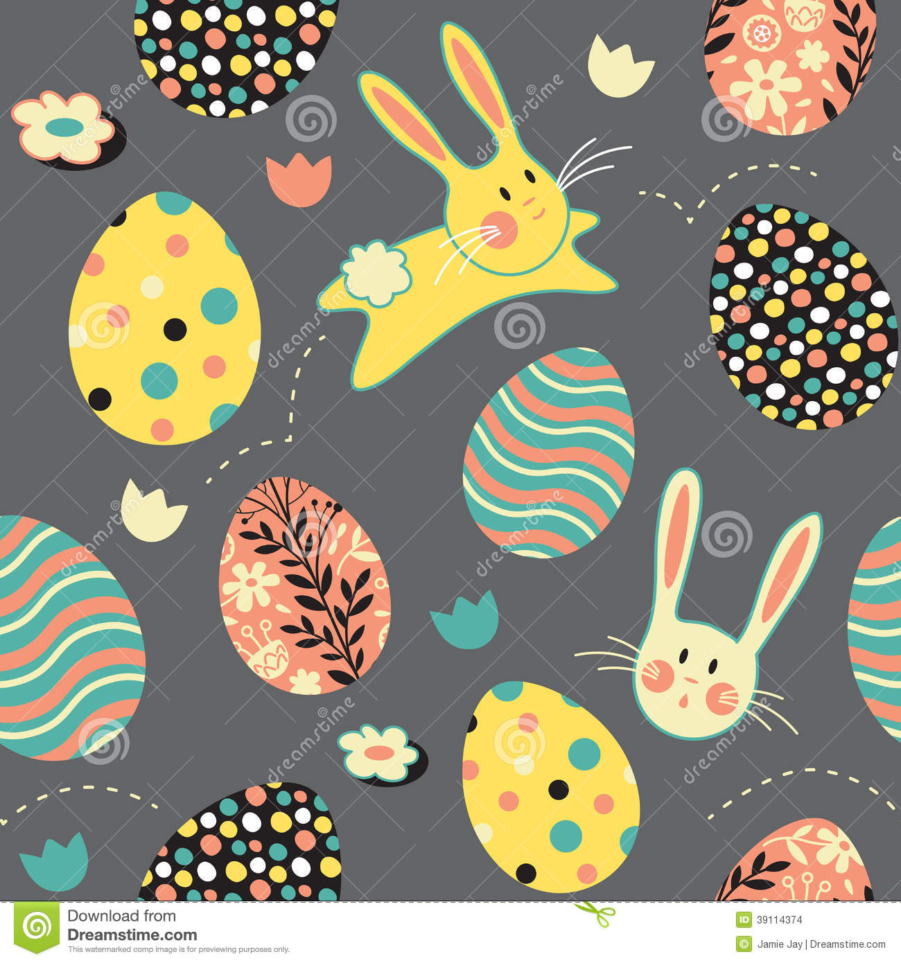 Easter bunny egg repeat pattern stock vector image 39114374 royalty free stock photo negle Image collections