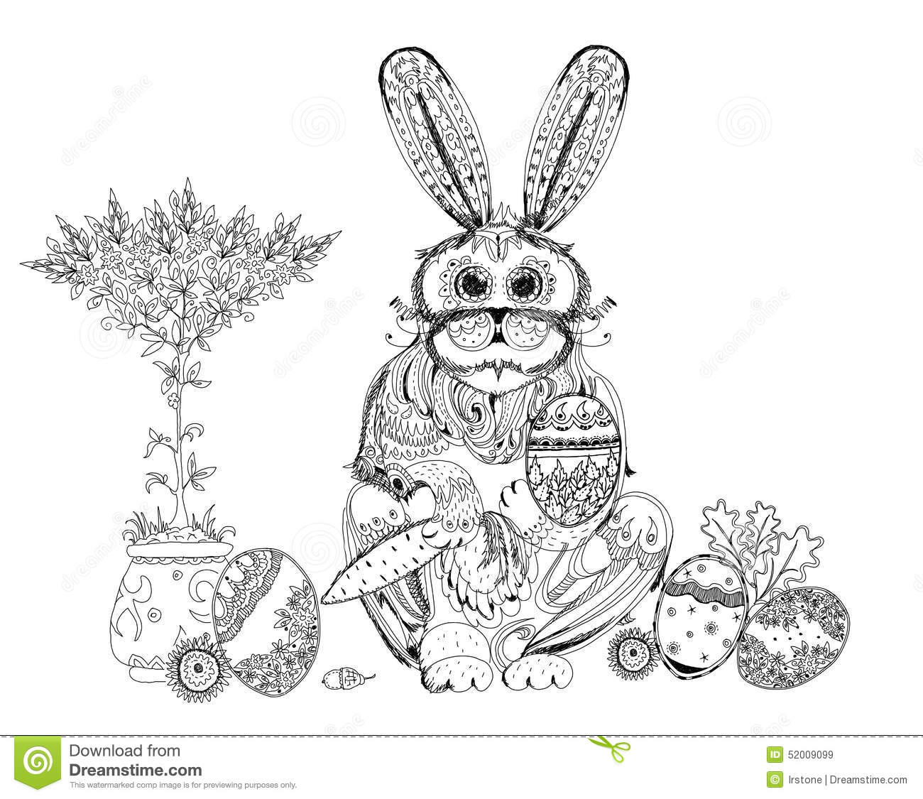 Line Art Easter Bunny : Easter bunny line drawing stock photos royalty free pictures