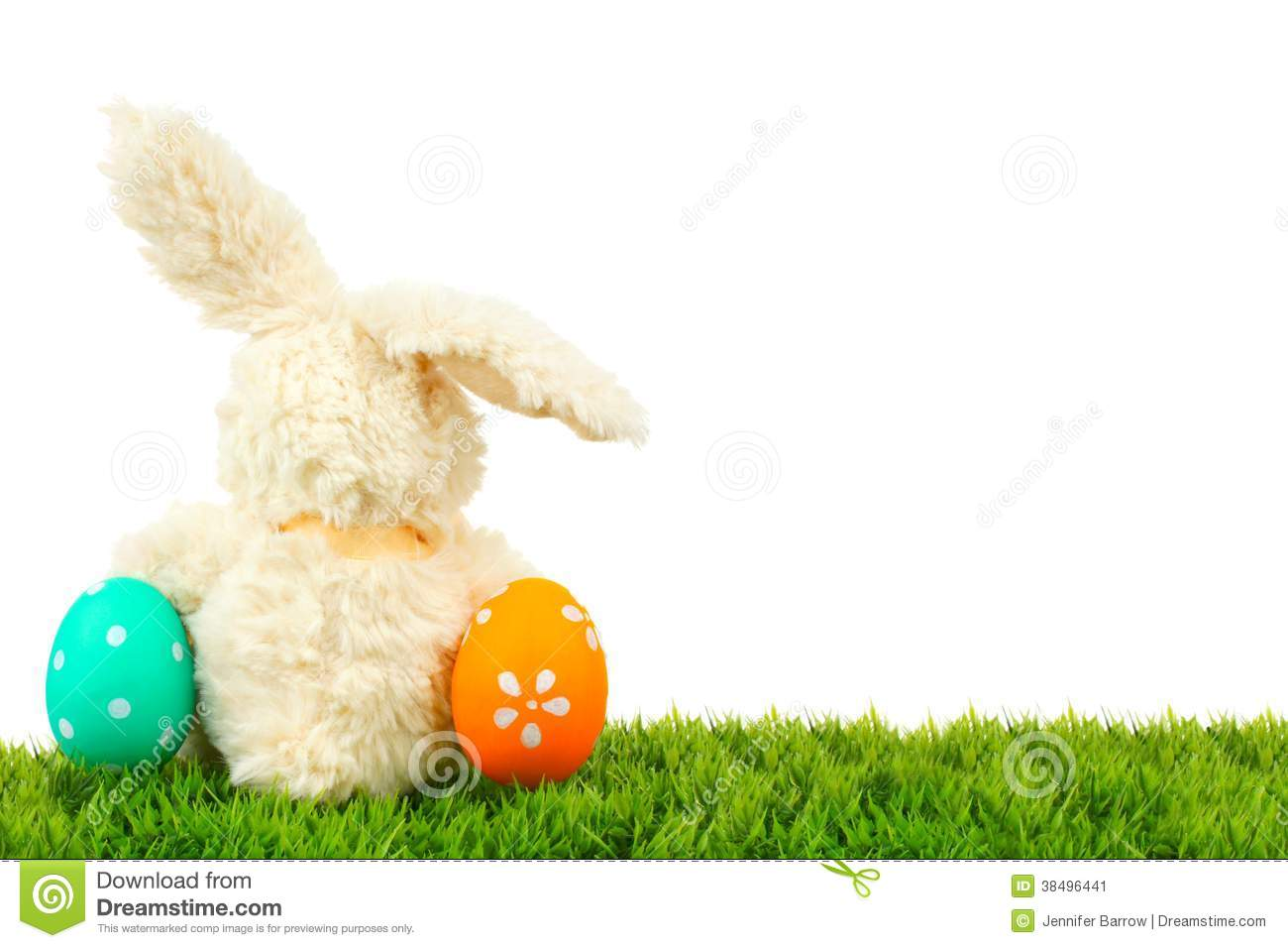 Easter Bunny And Eggs Border Stock Image - Image: 38496441