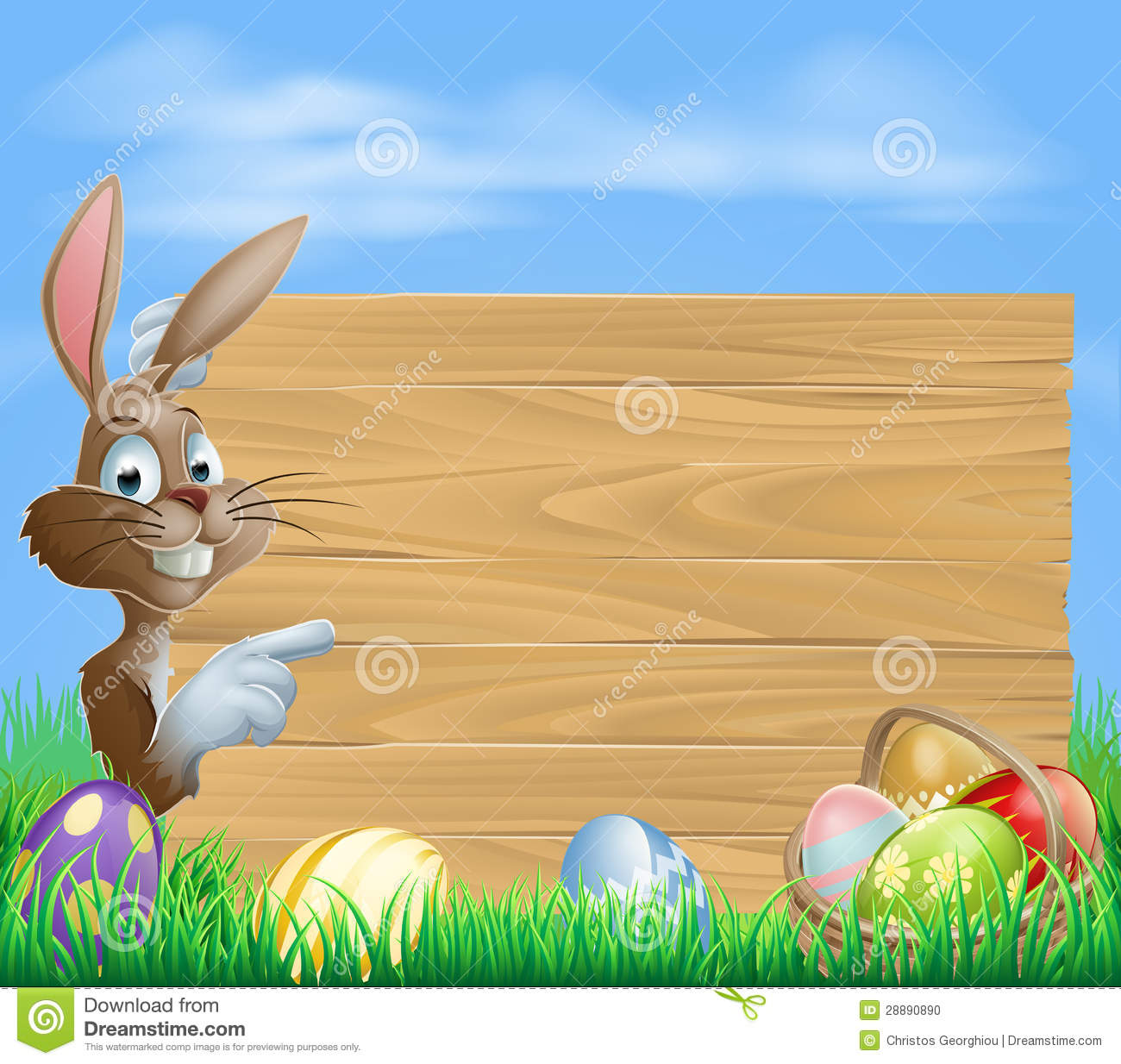 Bunny And Chocolate Easter Eggs Stock Photography - Image: 37110692