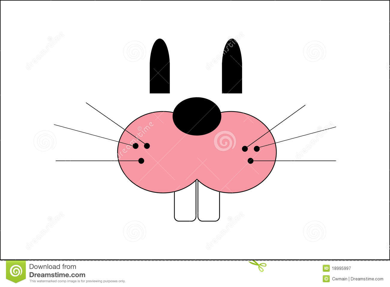 Easter Bunny Face Royalty Free Stock Photography Image 18995997