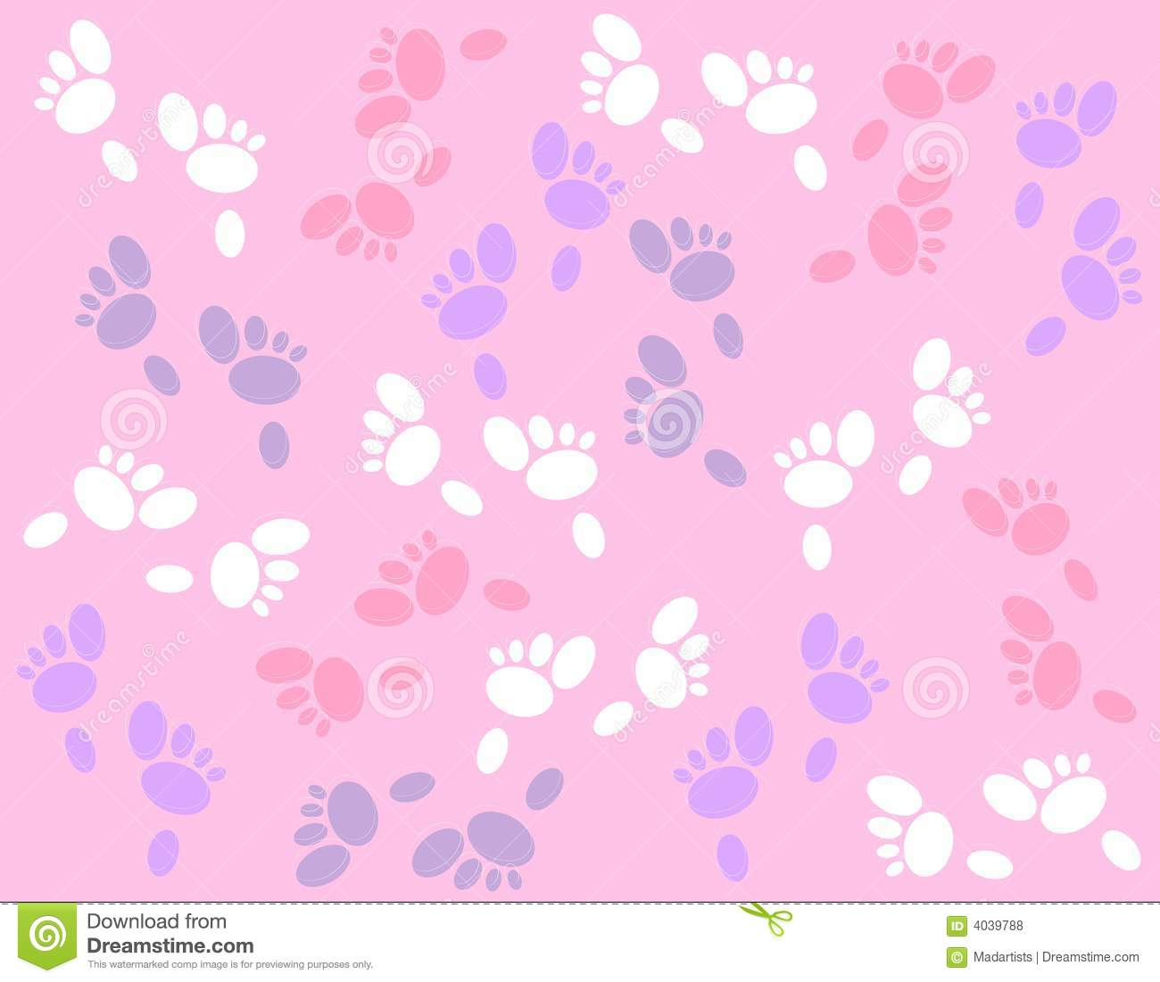 Easter Bunny Footprints Background Royalty Free Stock