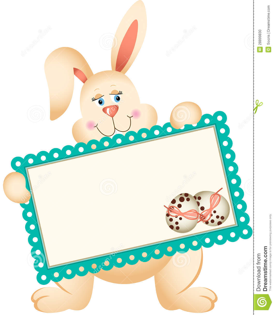 Easter Bunny Holding Greeting Card Stock Photo - Image ...