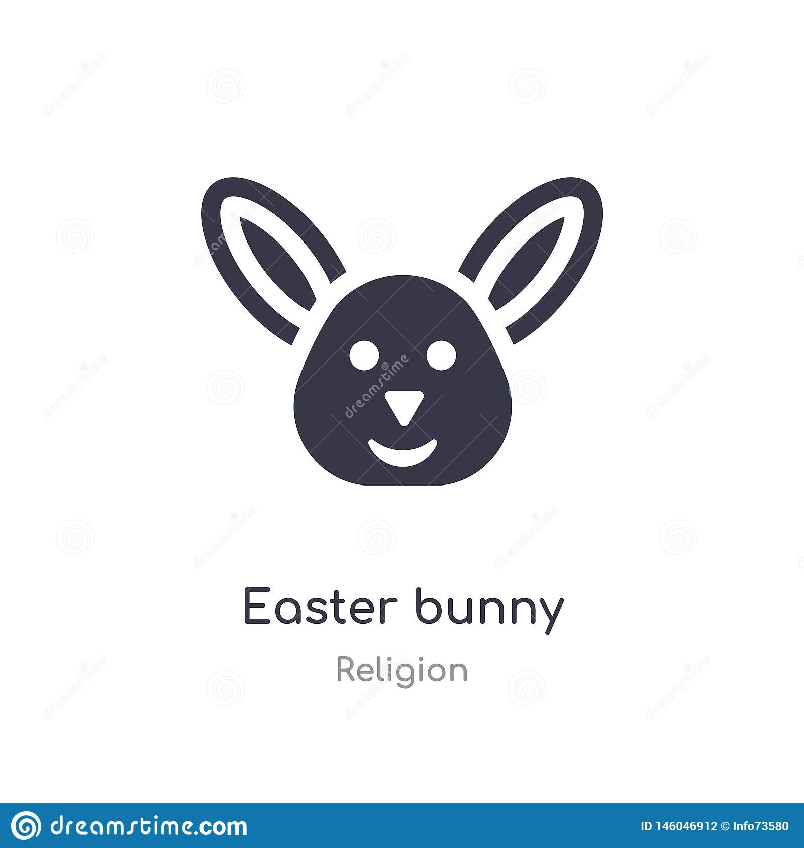 Easter Bunny Icon Isolated Easter Bunny Icon Vector Illustration From Religion Collection Editable Sing Symbol Can Be Use For Stock Vector Illustration Of Design Creative 146046912