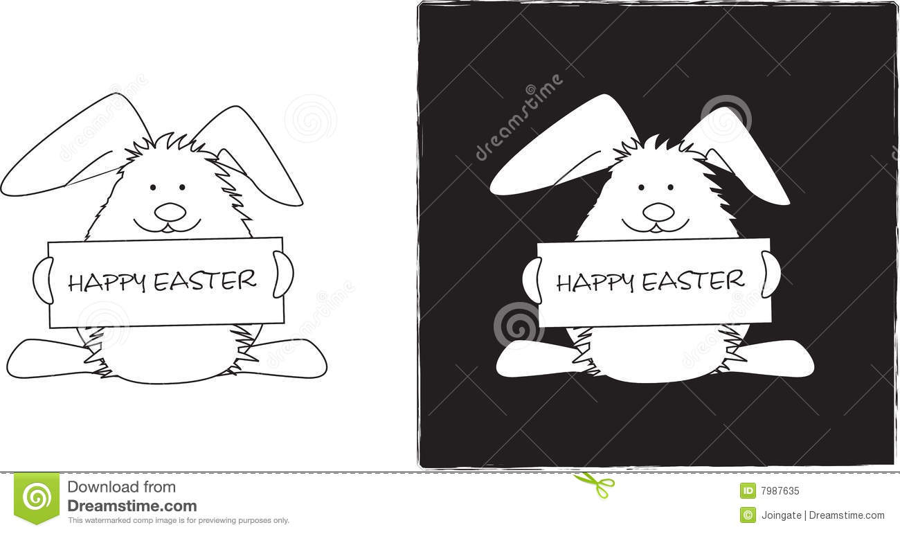 Line Art Easter Bunny : Easter bunny line drawing royalty free stock photo image