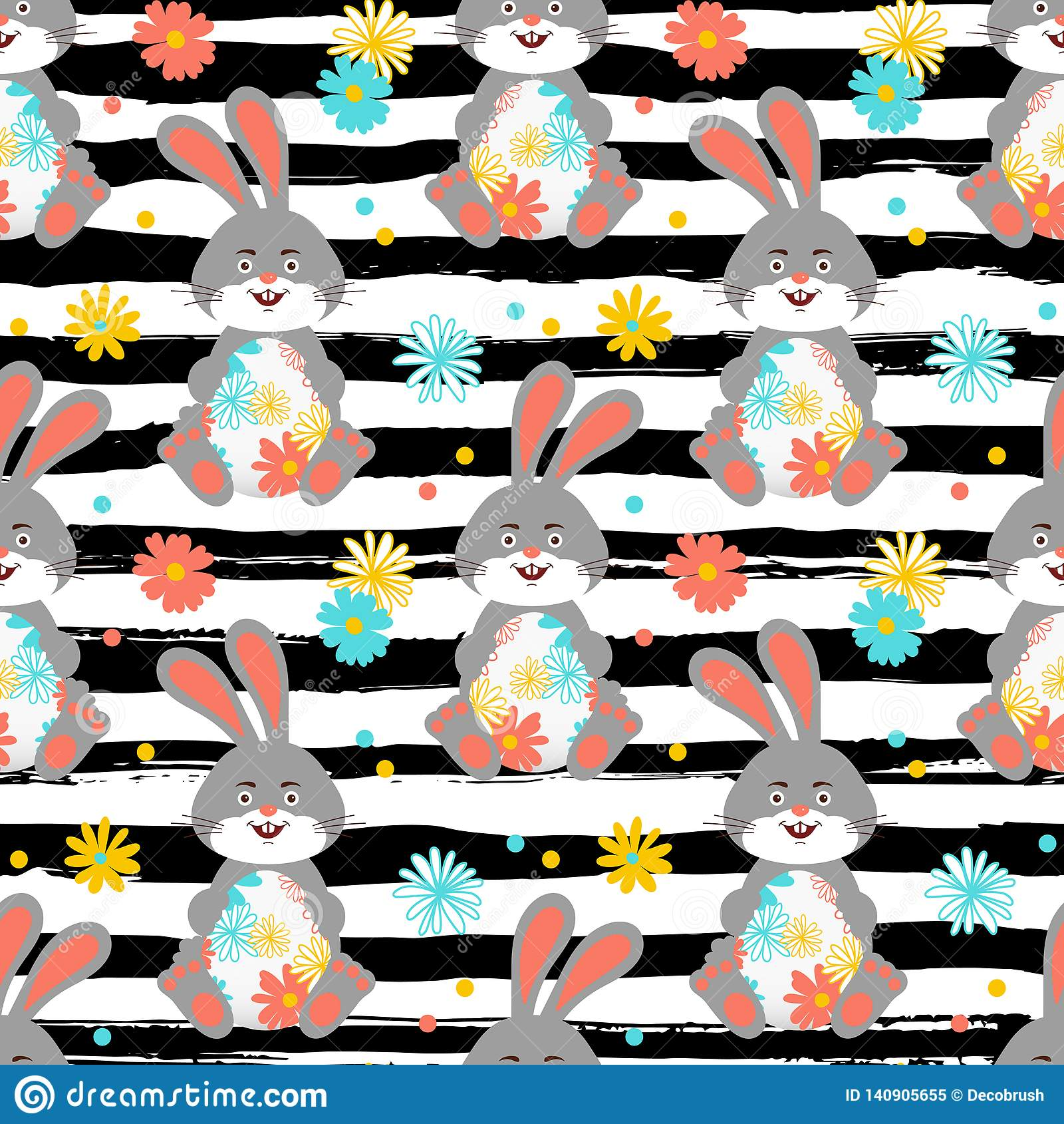 Easter Bunny Easter Pattern Seamless Easter Rabbit Wallpaper