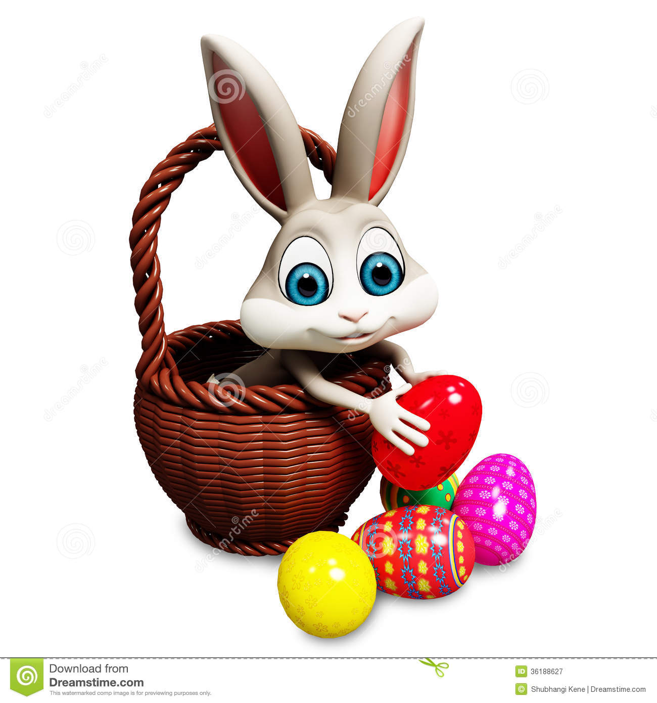 Easter Bunny Pick Up Egg Royalty Free Stock Photography - Image ...