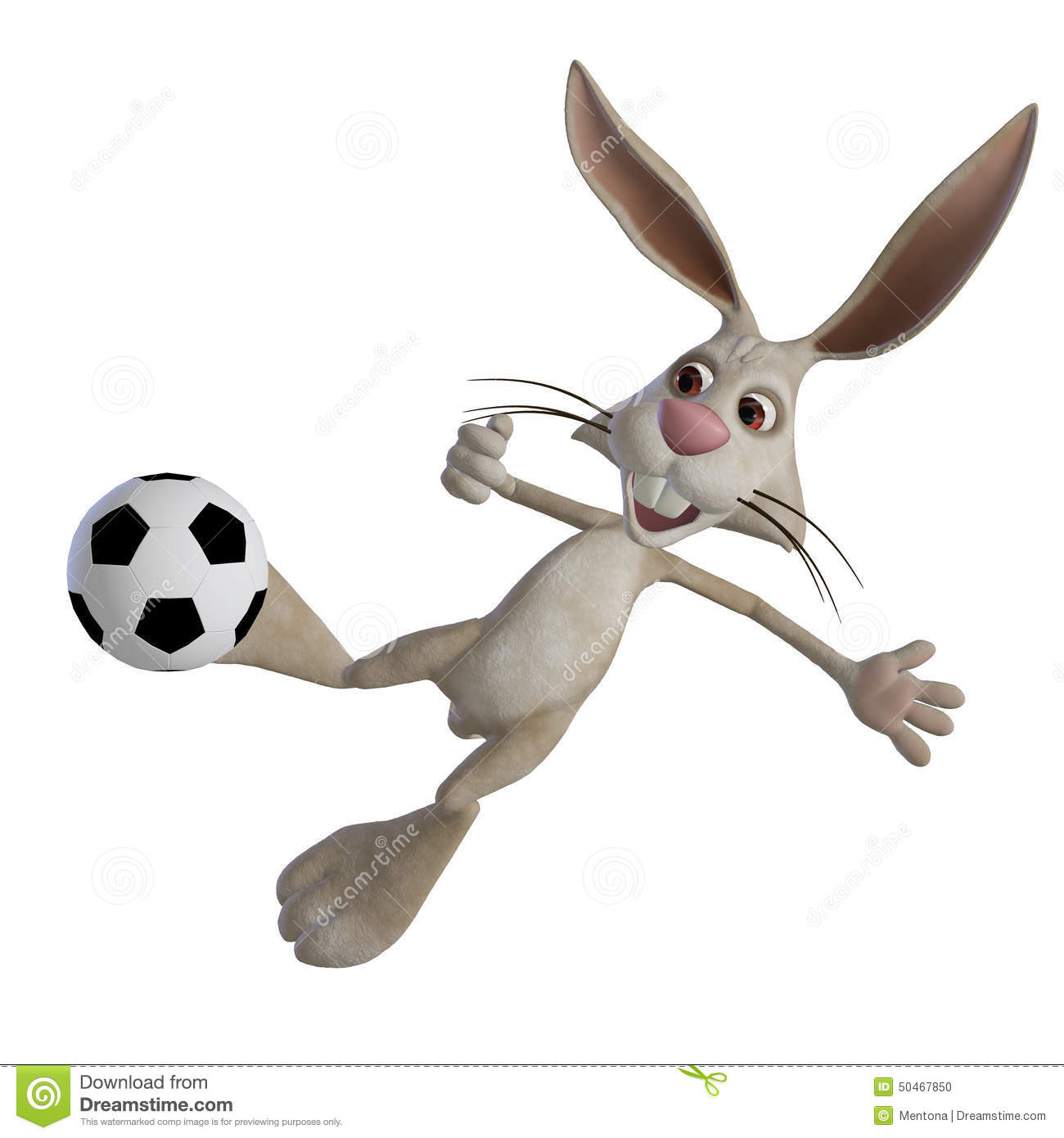 Easter Bunny Playing Football Stock Illustration - Image: 50467850
