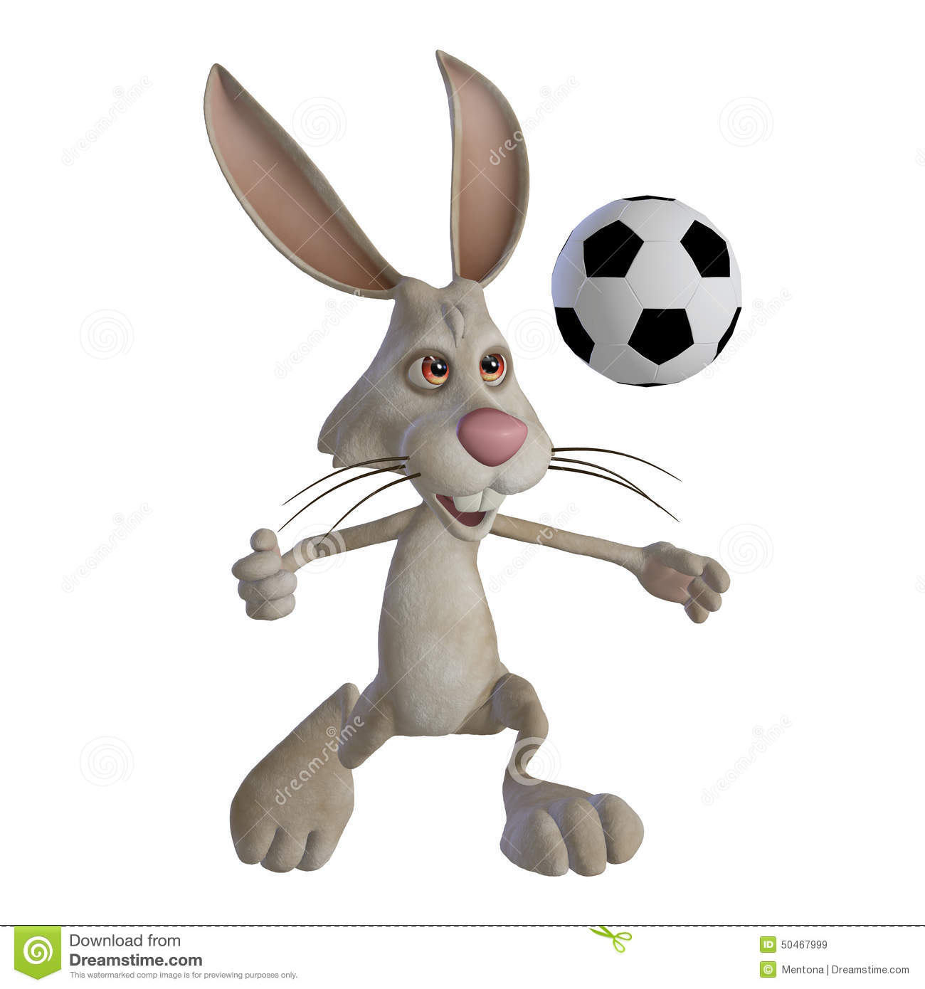 Easter Bunny Playing Football Stock Illustration - Image: 50467999