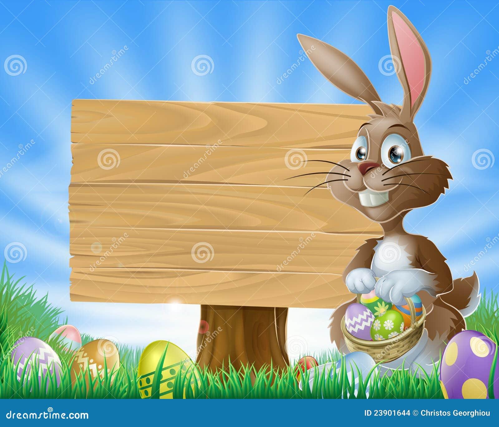 Easter Bunny Rabbit Background Stock Vector - Illustration ...