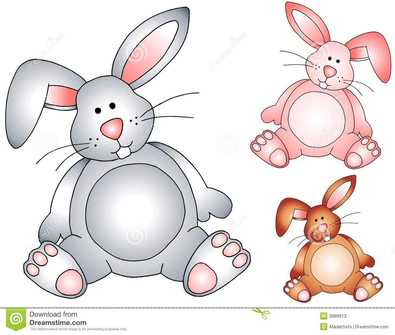 Easter Bunny Rabbits Stuffed Toys