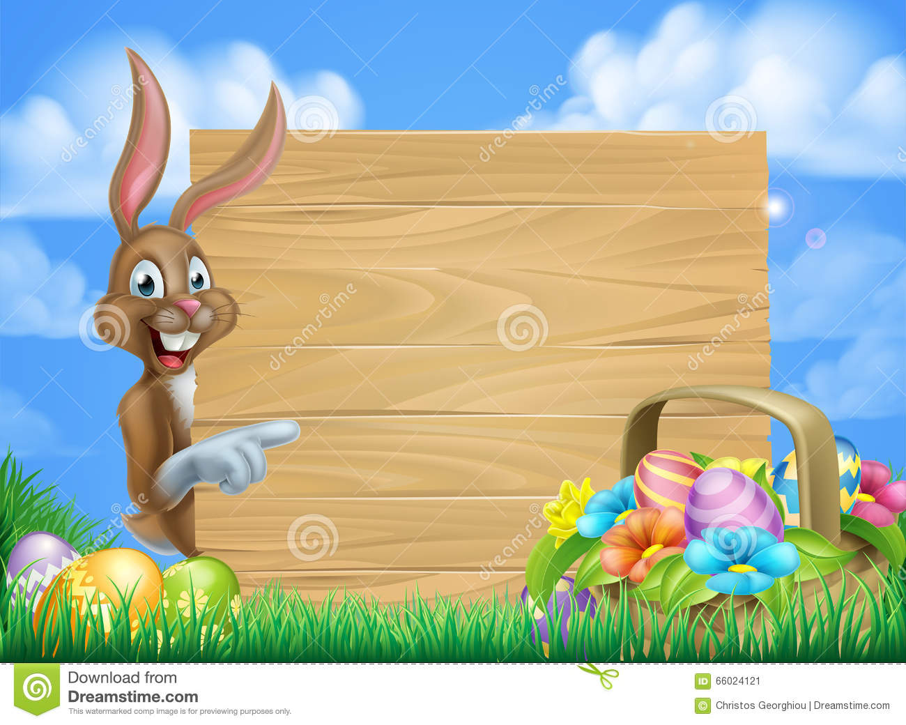 Easter Bunny Sign Stock Vector