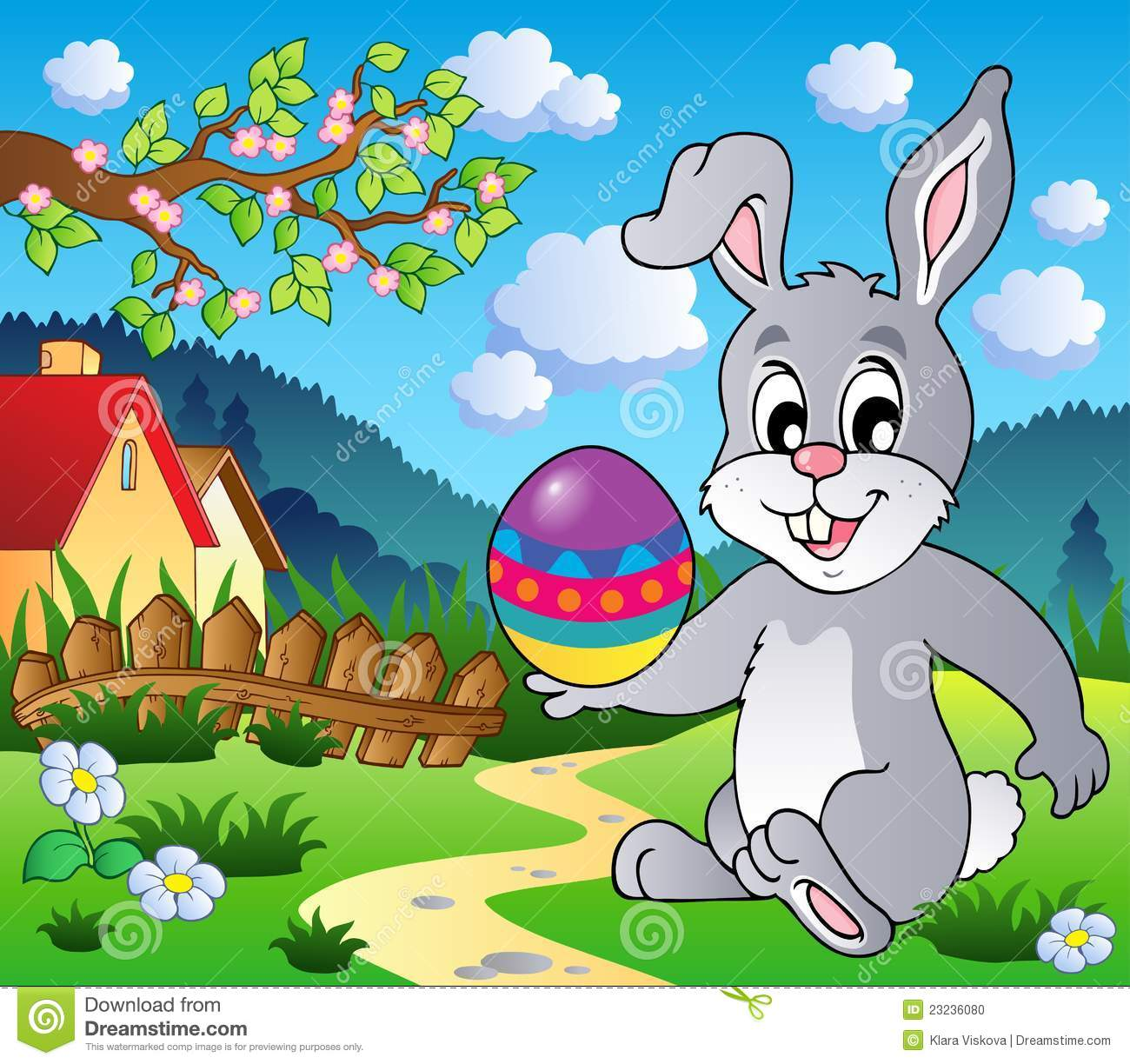 Easter Bunny Theme Image 4 Stock Vector. Image Of