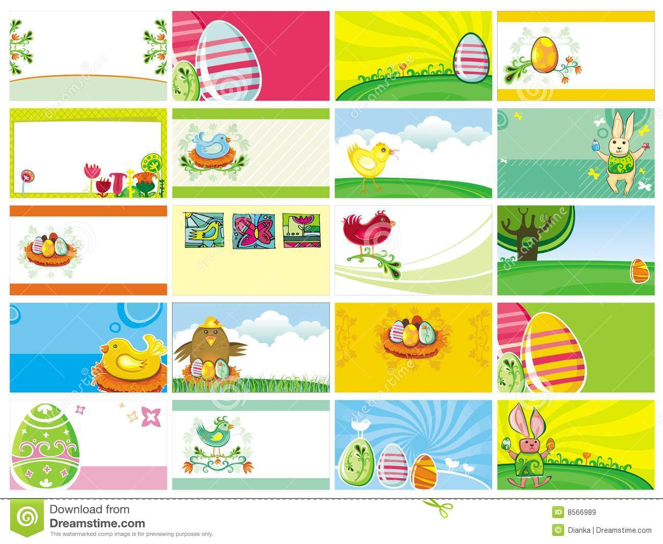 Easter business cards templates