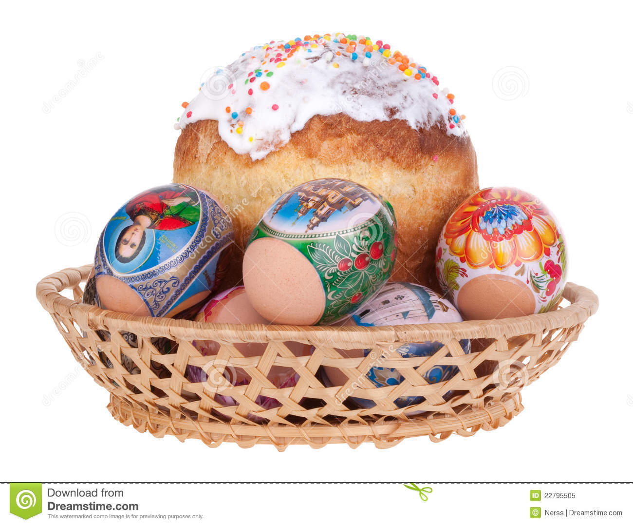 Download Easter cake stock image. Image of decoration, green, isolate - 22795505