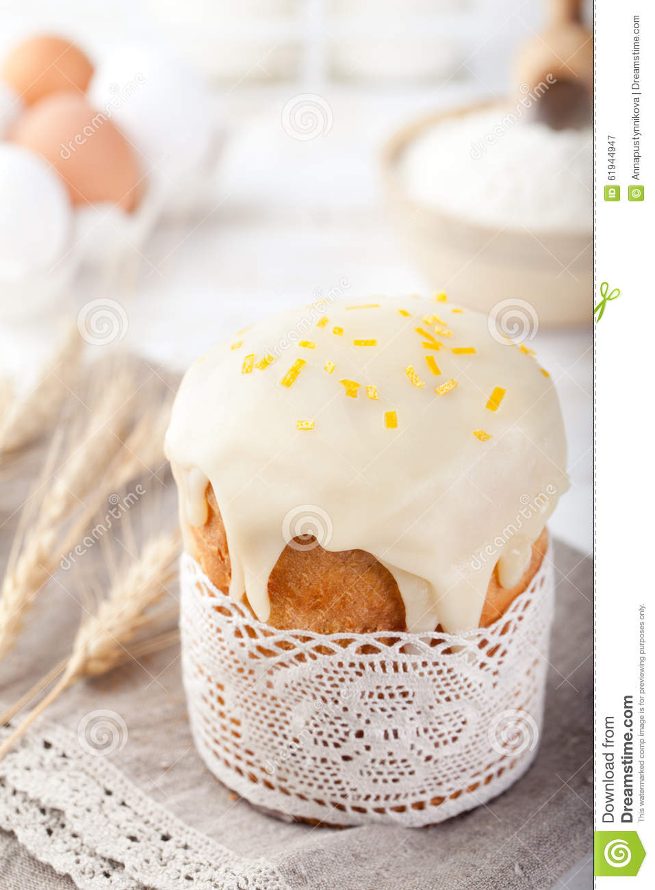 Kulich Russian Easter Cake