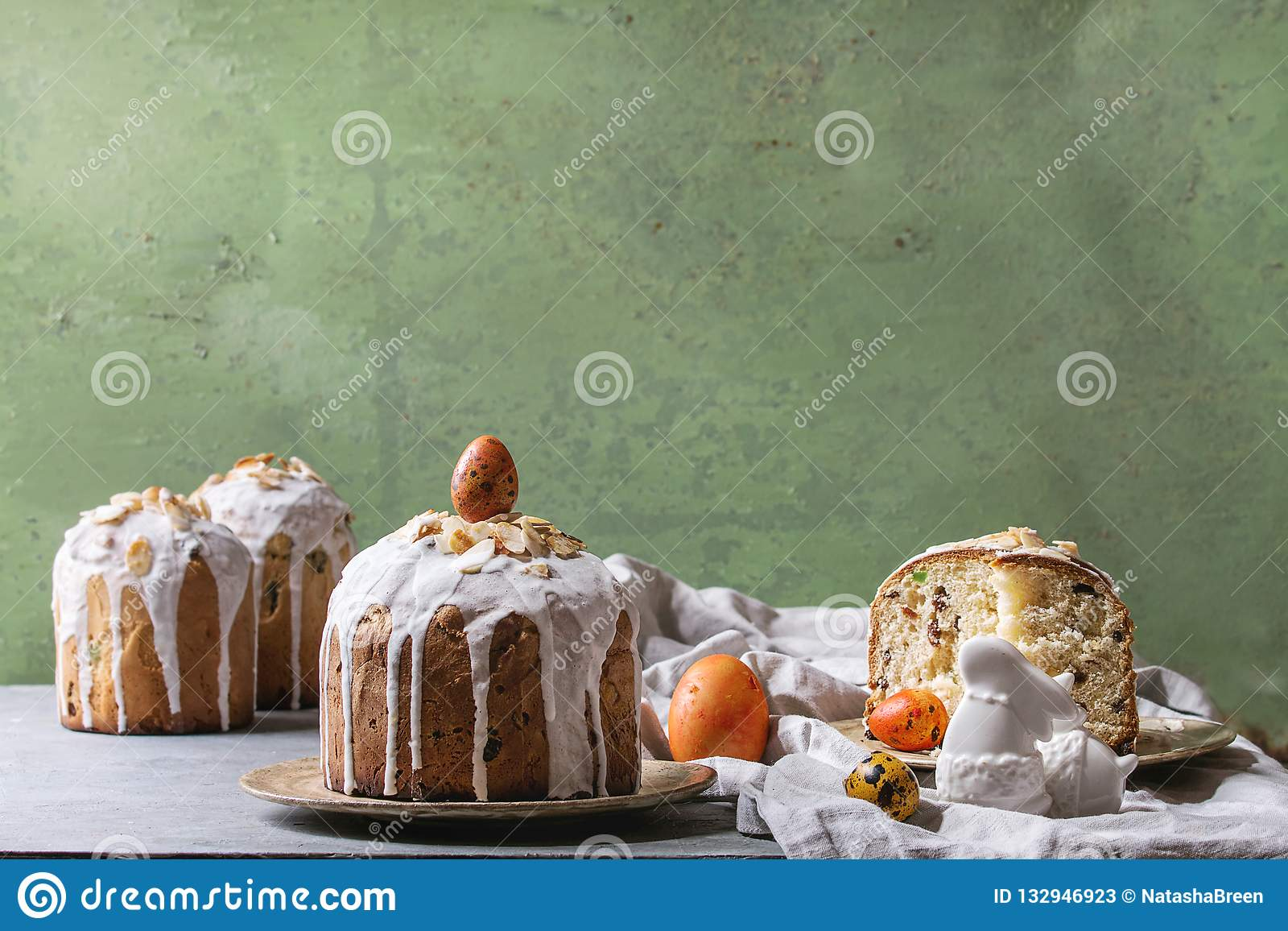 Easter Cake Kulich Stock Image Image Of Decoration 132946923