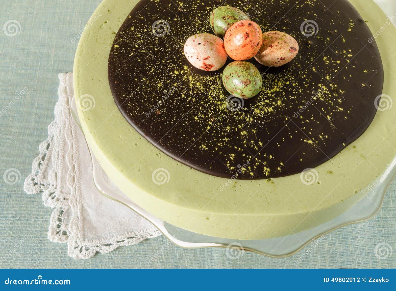 Chocolate Cake Matcha Ganache