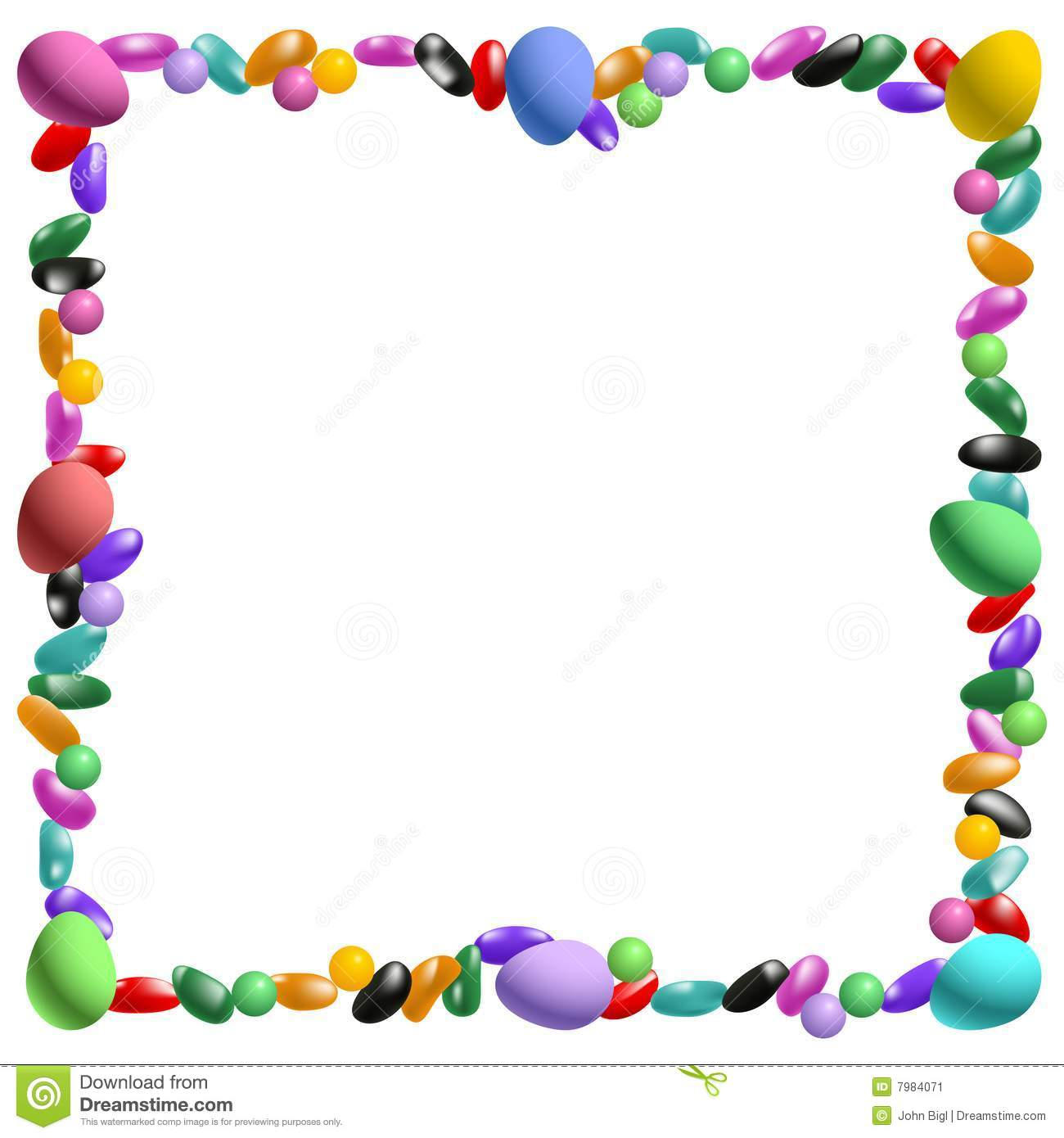 Jelly Bean Border Clip Art - More information