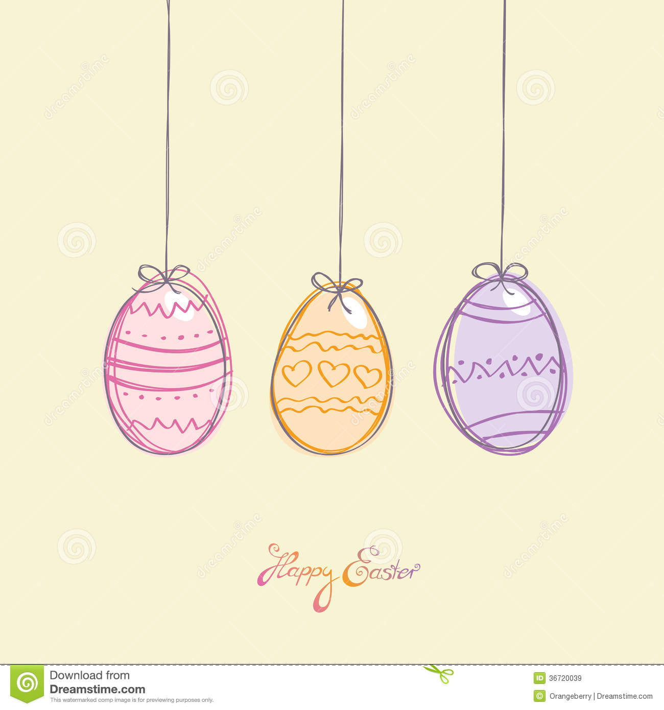 Easter Card Royalty Free Stock Images - Image: 36720039