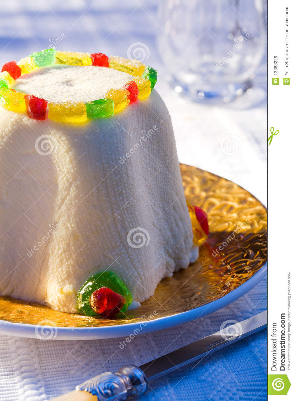 Easter Cheesecake Royalty Free Stock Image - Image: 13388236