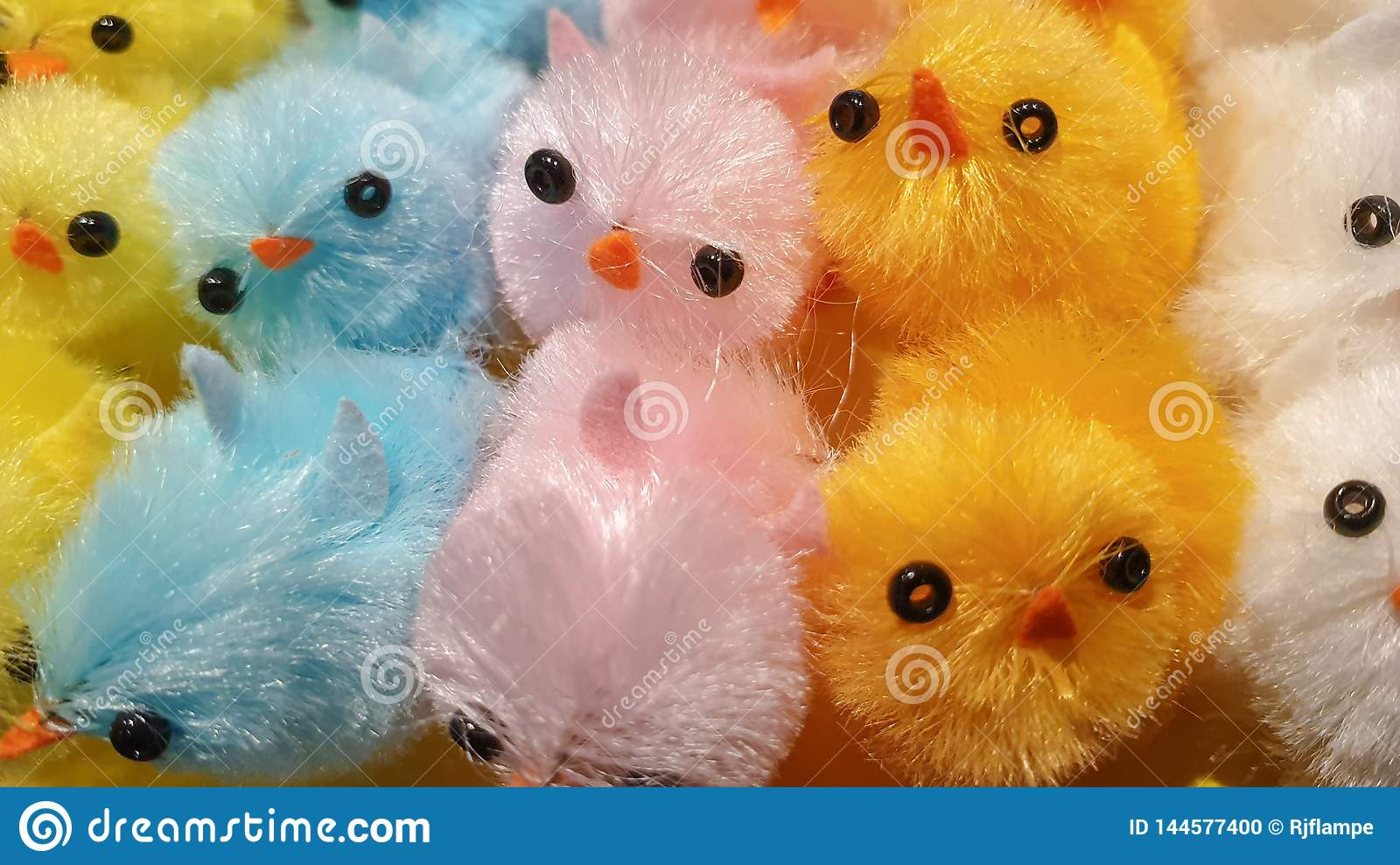 Easter Chick Chicken Decoration, Colorful Happy Fluffy