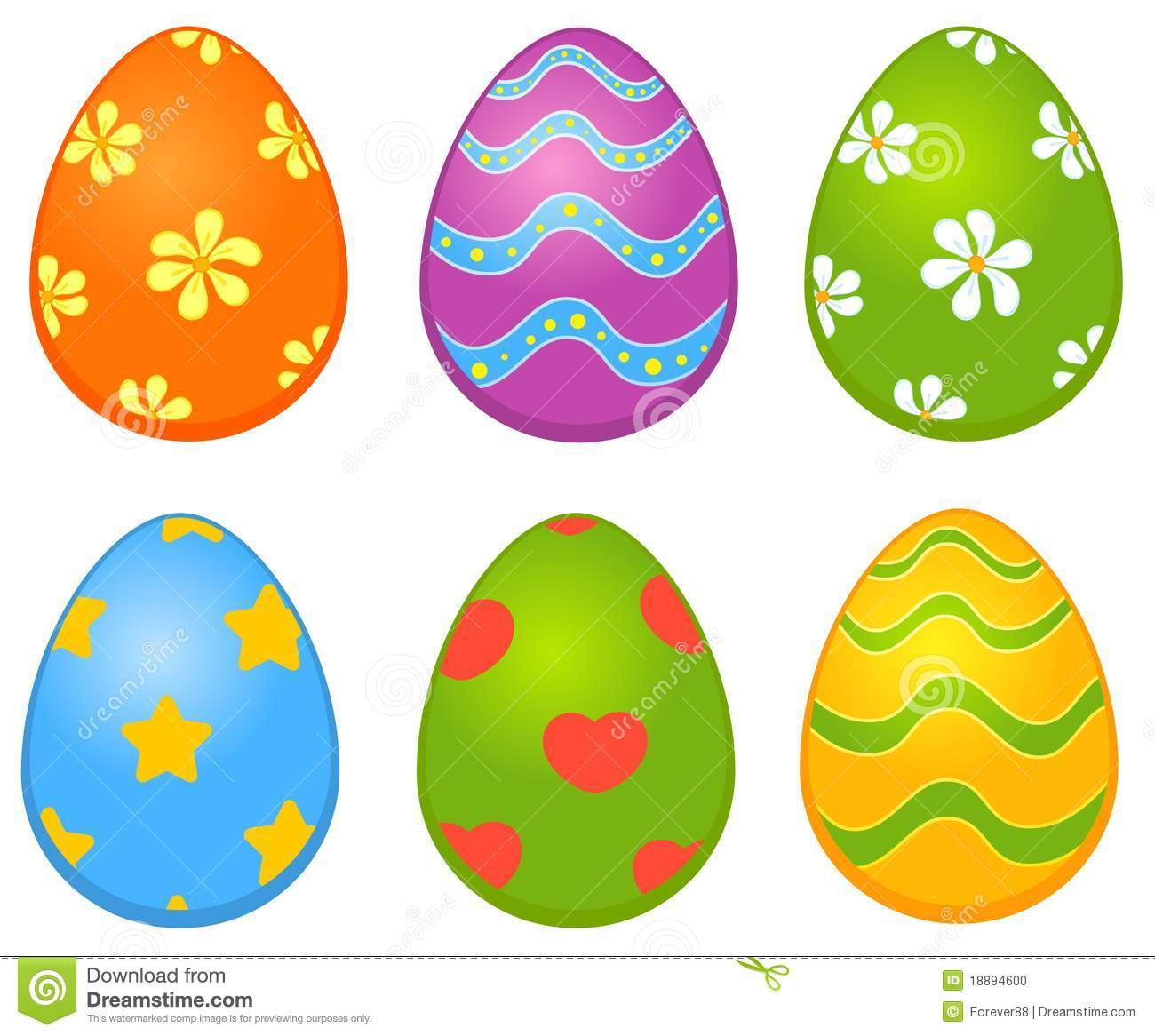 Easter Colored Egg. Stock Vector. Illustration Of